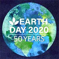 Image of the logo for NC's 50th anniversary celebration of Earth Day, 2020. Click here to take the NCpedia quiz on the state's environment.