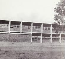 This photograph of a partial view of West Charlotte High School was taken from the first page ofThe Lion (1966), the yearbook of West Charlotte High School.
