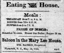 """""""Eating House,""""The Old Flag"""