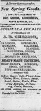 Advertisement for new spring goods, from The Old Flag