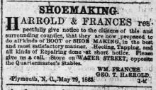 Shoemaking Advertisement from The Old Flag Newspaper