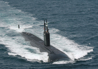The USS Asheville (SSN 758) near San Diego, Calif. on November 29, 2008. Image from  U.S. Navy/Flickr user Marion Doss.