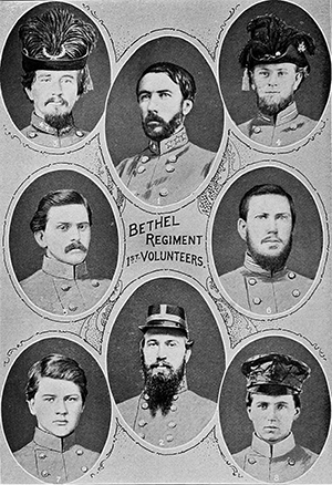 The Bethel Regiment, Daniel H. Hill at upper left. Image from Archive.org.