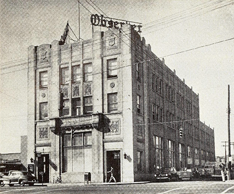Charlotte Observer building, 1951. Image from Archive.org.