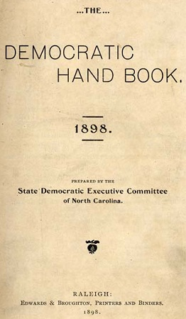 Title page of The Democratic Hand Book. 1898.