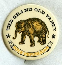 Republican Party button, 1968.