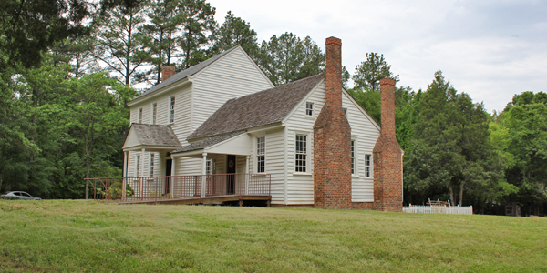 The Bennehan Home at Stagville, built circa 1787. Image from the Stagville State Historic Site.