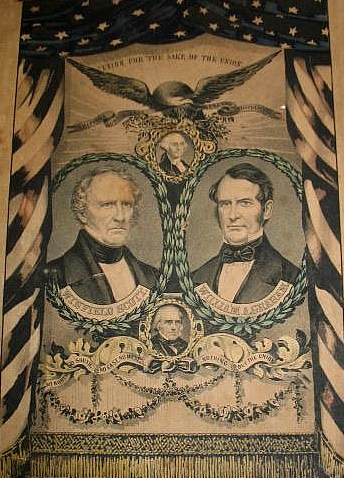 Broadside of the Whig party candidates for the presidential election of 1852, Winfield Scott and William A. Graham.
