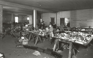 Boy Scouts Repairing Toys, Greensboro, NC, c.1930-1939. From the Charles A. Farrell Photo Collection, PhC.9, North Carolina State Archives, Raleigh, NC, call #:  PhC9_1_104.