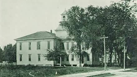 Atlantic Collegiate Institute, postcard. Image courtesy of Elizabeth City.