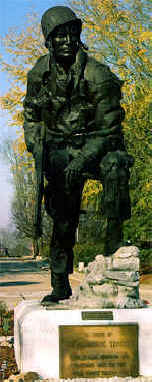 """Iron Mike"" Airborne Trooper statue at Fort Bragg. Image courtesy of North Carolina Office of Archives & History."