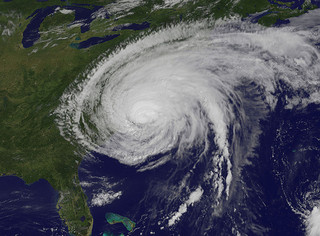 """Hurricane Irene Makes Landfall in North Carolina."" Image courtesy of NASA Goddard Photo and Video."