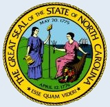 "Great Seal of the State of North Carolina, with the Latin motto ""Esse Quam Videri.""  Image from the North Carolina Department of the Secretary of State."
