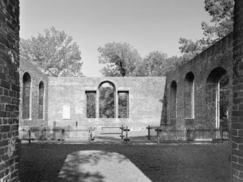 The ruins of St. Philip's Episcopal Church at Brunswick Town State Historic Site. Photograph by Tim Buchman. Courtesy of Preservation North Carolina.