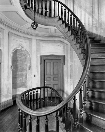 Stair in the rotunda of Coolmore. Photograph by Tim Buchman. Courtesy of Preservation North Carolina.