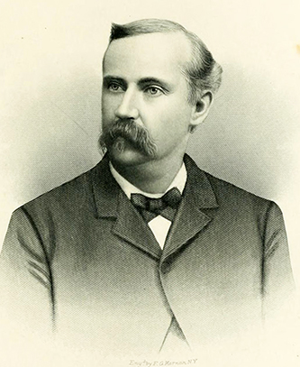 An engraving of Sydenham B. Alexander published in 1892. Image from Archive.org.