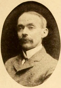 A photograph of Dr. John Everett Brady from the 1901 Smith College yearbook. Image from the Internet Archive.