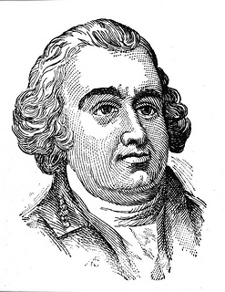Woodcut of Thomas Burke, date unknown. Image from the State Archives of North Carolina.