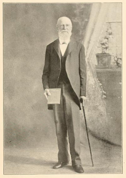 Portrait of John F. Foard, from his publication <i>North America and Africa, Their Past, Present and Future,</i> published 1904.  Presented on Archive.org.
