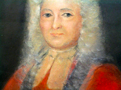 Portrait of Christopher Gale by Henrietta Johnston, 1718,-1719. Image from the North Carolina Museum of History.