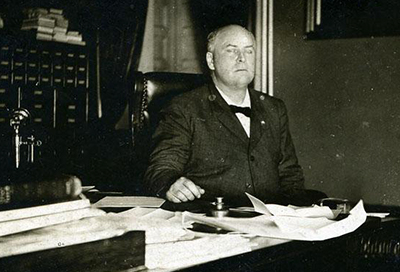Robert Broadnax Glenn in his office, 1905-1909. Image from the North Carolina Museum of History.