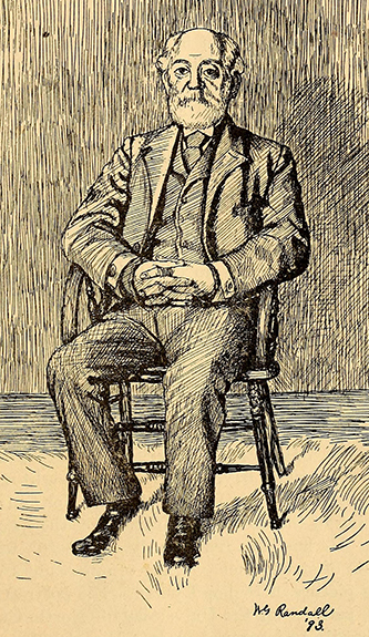 An 1893 drawing of Daniel R. Goodloe by William George Randall. Image from the Internet Archive.