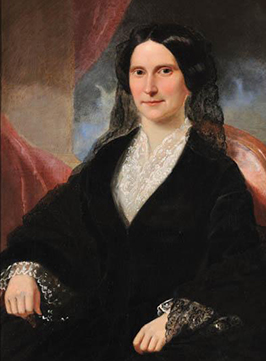 Portrait of Susannah Sarah Washington Graham, wife of governor William Alexander Graham, by William Garl Browne, 1855. Image from the North Carolina Museum of History.