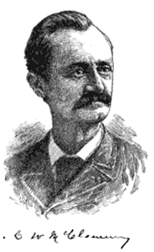 An engraving of Charles Washington McClammy published in 1899. Image from Google Books.