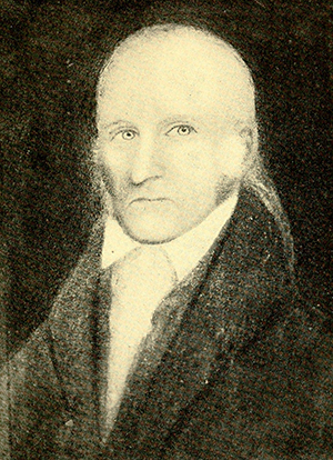 Photograph of a portrait of Reverend John Robinson, circa 1800. Image from Archive.org.