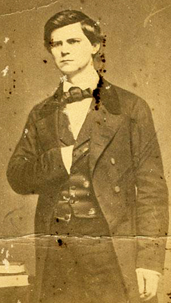 A photograph of the young Zebulon Baird Vance, circa 1840s-1850s. Image from the collection of the North Carolina Museum of History.
