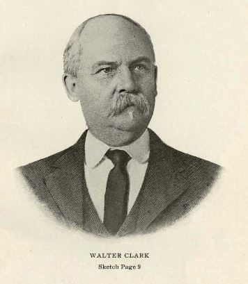 "Walter Clark. Image courtesy of ""Prominent people of North Carolina: brief biographies of leading people for ready reference purposes""."