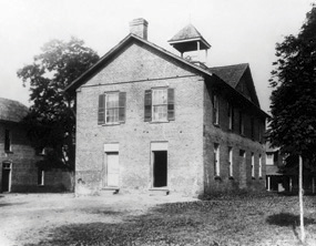 The First Campus Building of Mars Hill College, where Ammons was a student, and later served as president from 1866-1868.Image courtesy of Mars Hill University.