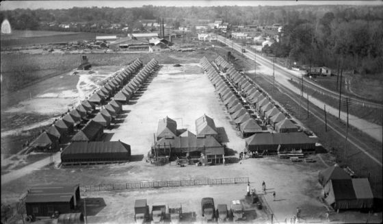 WWII POW Camp in Williamston, N.C. Image courtesy of East Carolina University Special Collections.
