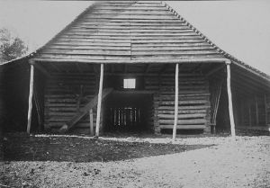 Stover Wise's Barn, Frank W. Bicknell Photograph Collection, North Carolina State Archives, call #:  PhC8_423, Raleigh, NC.